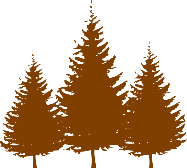 Brown tree clipart banner black and white stock Brown Trees Clip Art at Clker.com - vector clip art online, royalty ... banner black and white stock