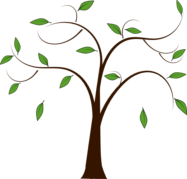 Brown tree without leaves clipart vector library download Draw something like this, but add everyone's fav memory to a leaf ... vector library download