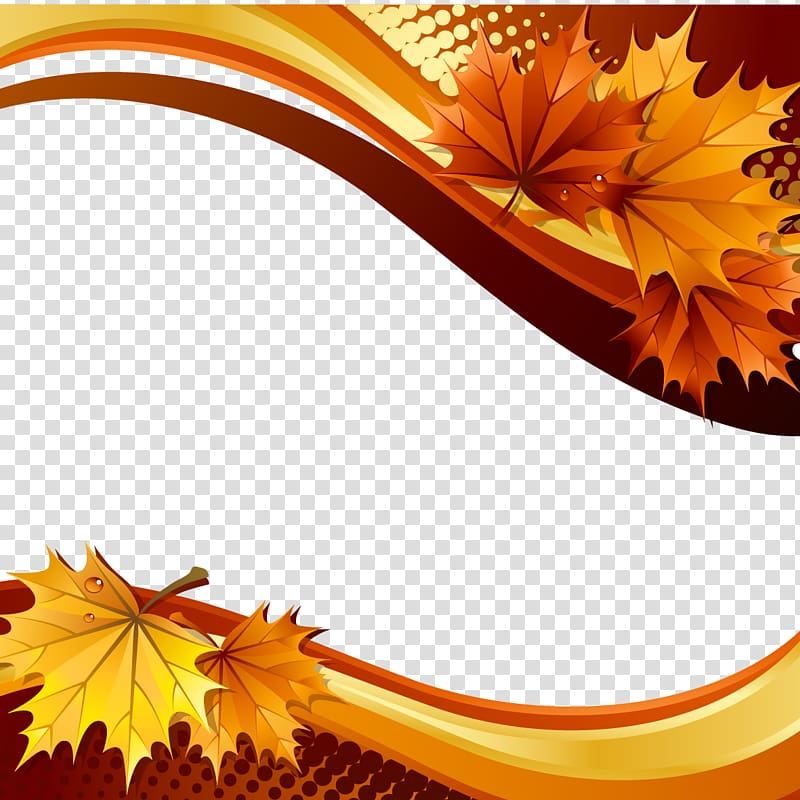 Brown yellow berries fall branch png clipart freeuse Brown leaved , Autumn Illustration, leaves and curves transparent ... freeuse