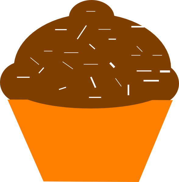 Browncupcake clipart picture library stock Cupcake Brown Orange Clip Art at Clker.com - vector clip art online ... picture library stock