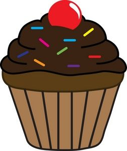 Browncupcake clipart graphic transparent Chocolate%20Clip%20Art | School | Cupcake clipart, Cupcake pictures ... graphic transparent