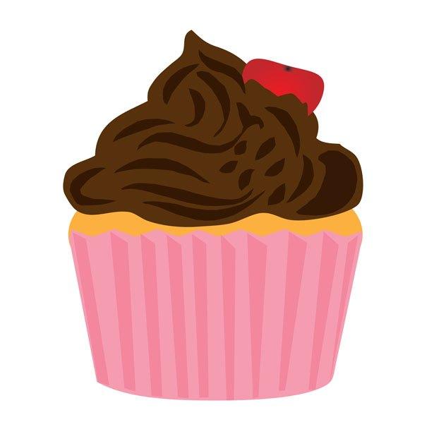 Browncupcake clipart jpg library download Pink and brown cupcake clipart 1 » Clipart Portal jpg library download