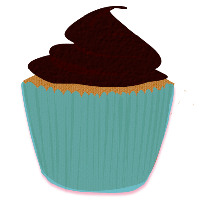 Browncupcake clipart picture free Turquoise Brown Cupcake Clip Art by Wisp-Stock.deviantart.com on ... picture free