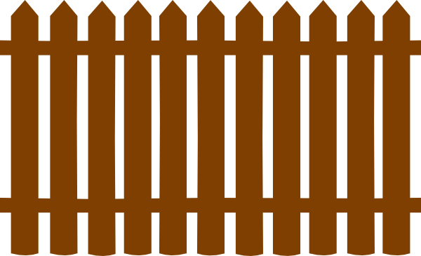 Pagar clipart png black and white stock Brown Fences Clip Art at Clker.com - vector clip art online, royalty ... png black and white stock