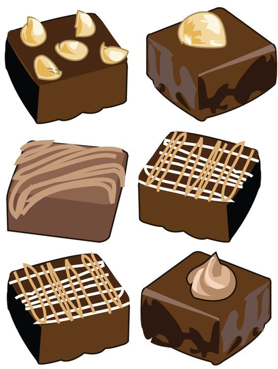 Brownie clipart graphic free stock Brownies clip art - ClipartFest | Random | Brownie desserts ... graphic free stock