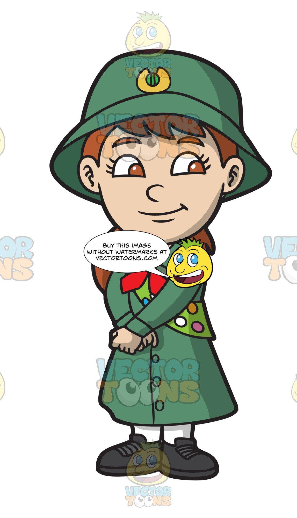 Brownie scout clipart clipart transparent A Pretty Girl Scout clipart transparent