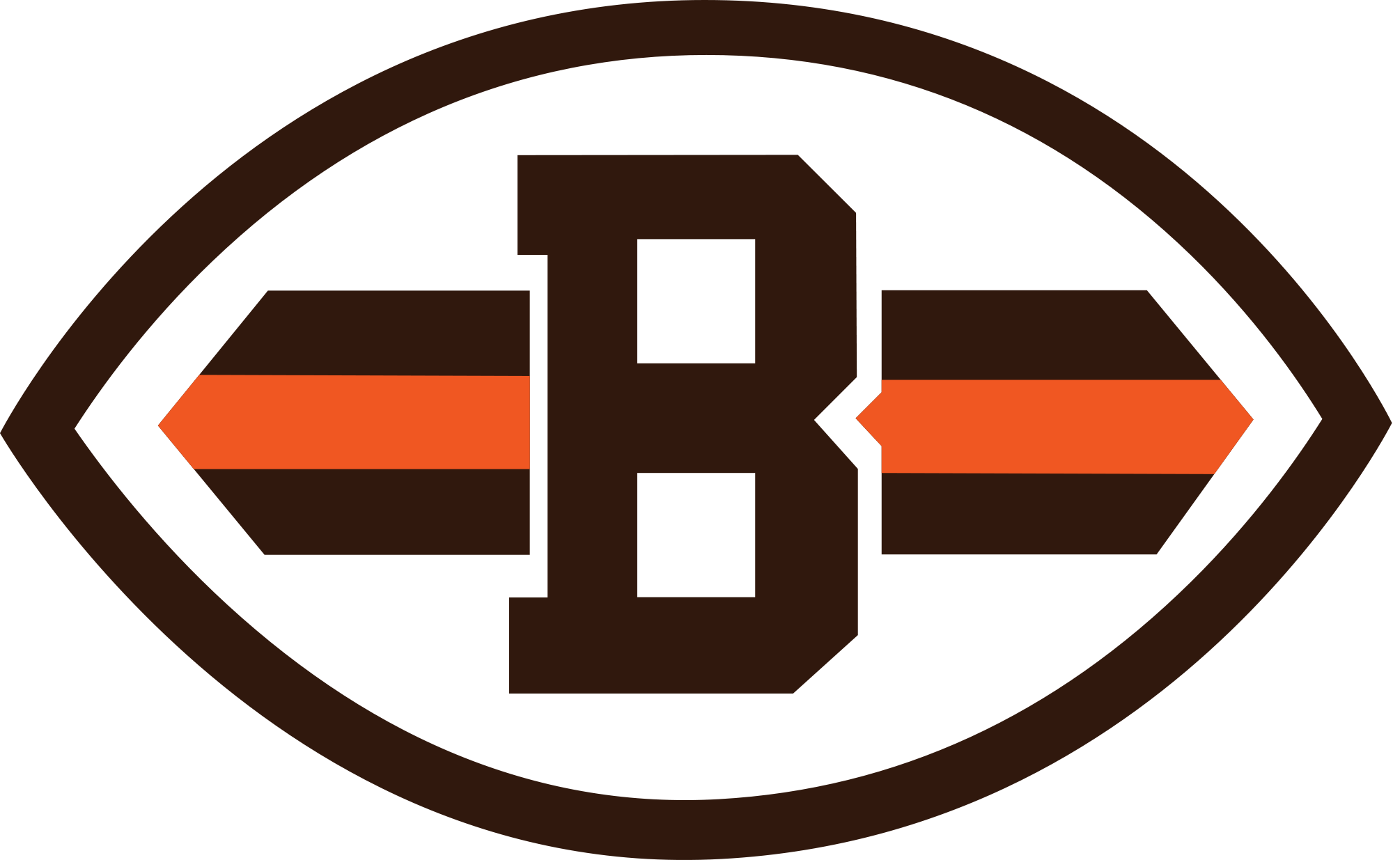 Browns football clipart black and white download Cleveland Browns Logo transparent PNG - StickPNG black and white download