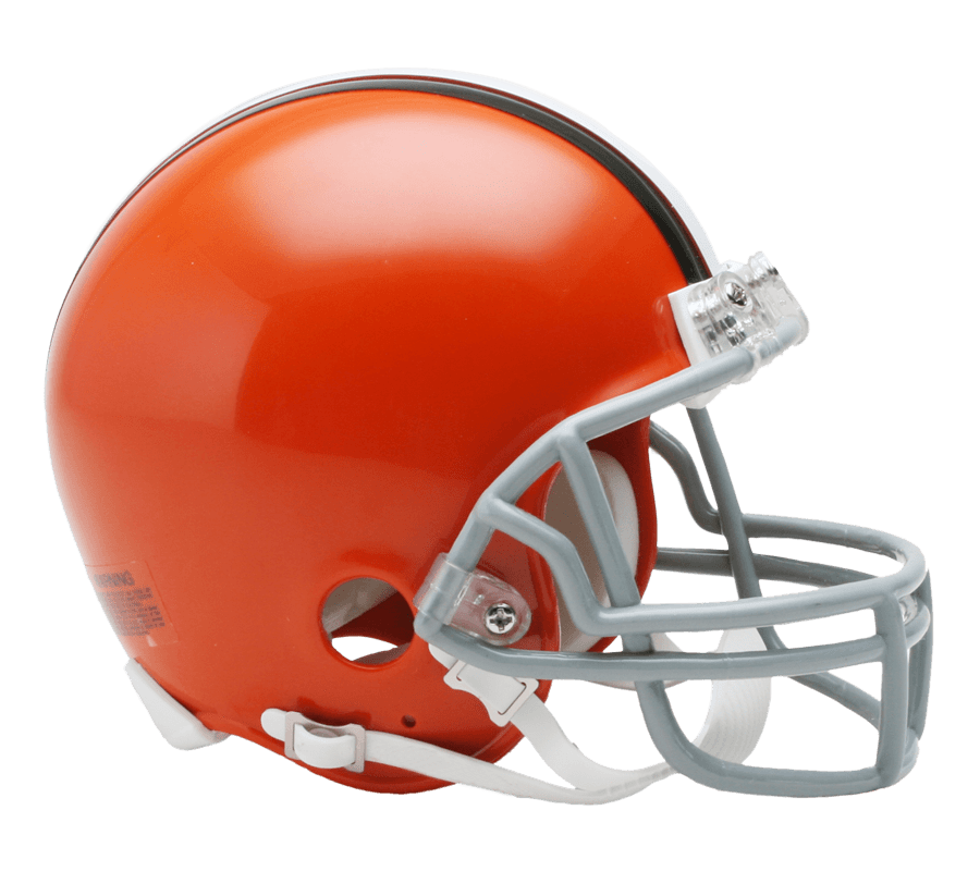 Orange football helmet clipart graphic library Cleveland Browns Helmet transparent PNG - StickPNG graphic library