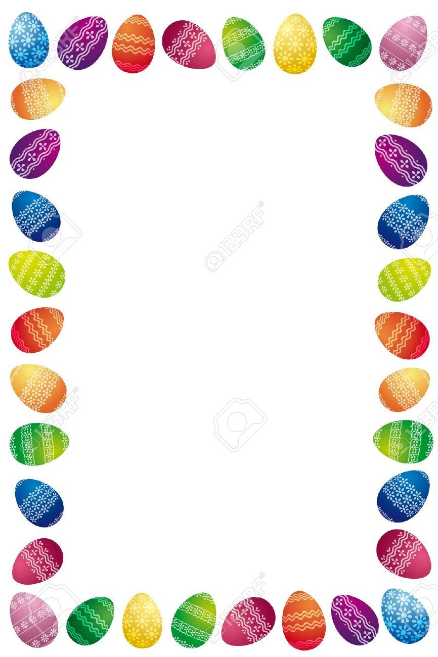 Brunch border clipart free library 15 Awesome easter egg border images images | Easter Egg Hunt and ... free library