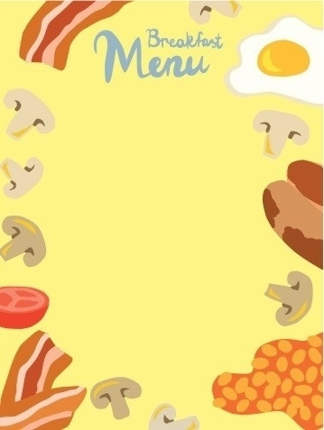 Brunch border clipart graphic royalty free library Breakfast Menu Border | Writings and Essays Corner graphic royalty free library