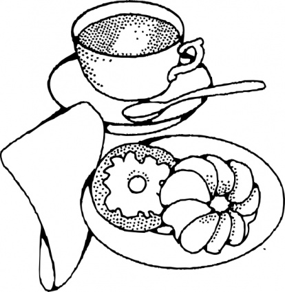Continental clipart graphic library download Breakfast Clipart Black And White | Free download best Breakfast ... graphic library download