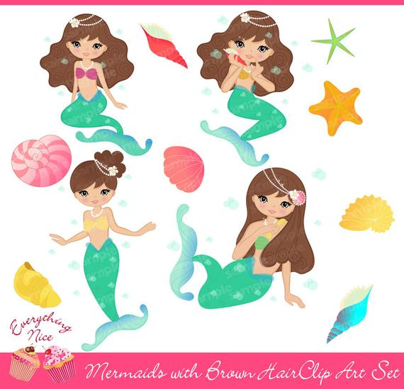 Brunette mermaid clipart royalty free 28+ albums of Mermaid With Brown Hair | Explore thousands of new ... royalty free