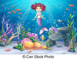 Brunette mermaid clipart image royalty free Brunette mermaid Vector Clip Art Royalty Free. 18 Brunette mermaid ... image royalty free