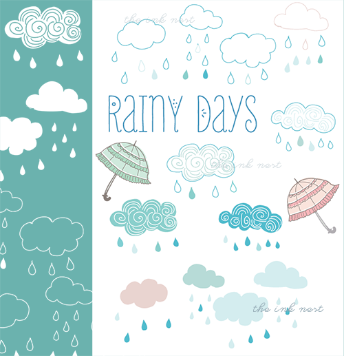 Brush clipart photoshop svg royalty free stock Clip Art & Photoshop Brushes – Rainy Days - The Ink Nest Blog svg royalty free stock