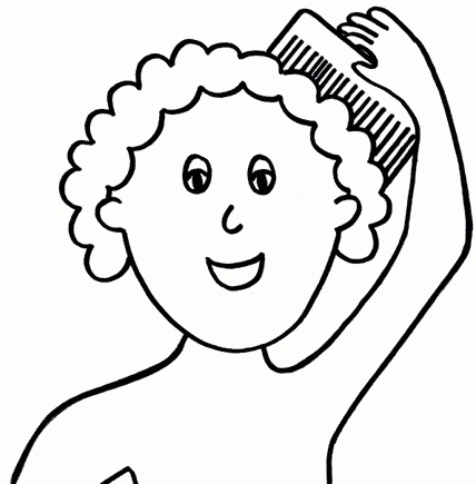Brush hair clipart black and white free banner freeuse library Comb Hair Cliparts   Free Download Clip Art   Free Clip Art   On ... banner freeuse library