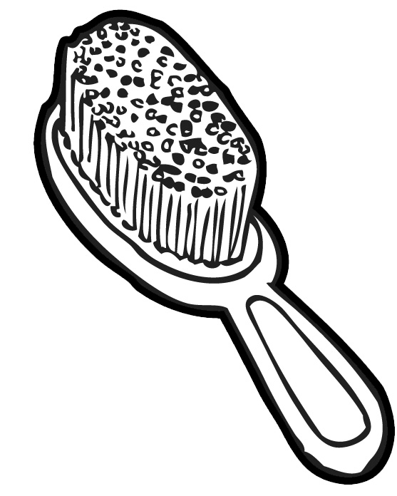 Brush hair clipart black and white free picture transparent stock Free Brush Cliparts, Download Free Clip Art, Free Clip Art on ... picture transparent stock