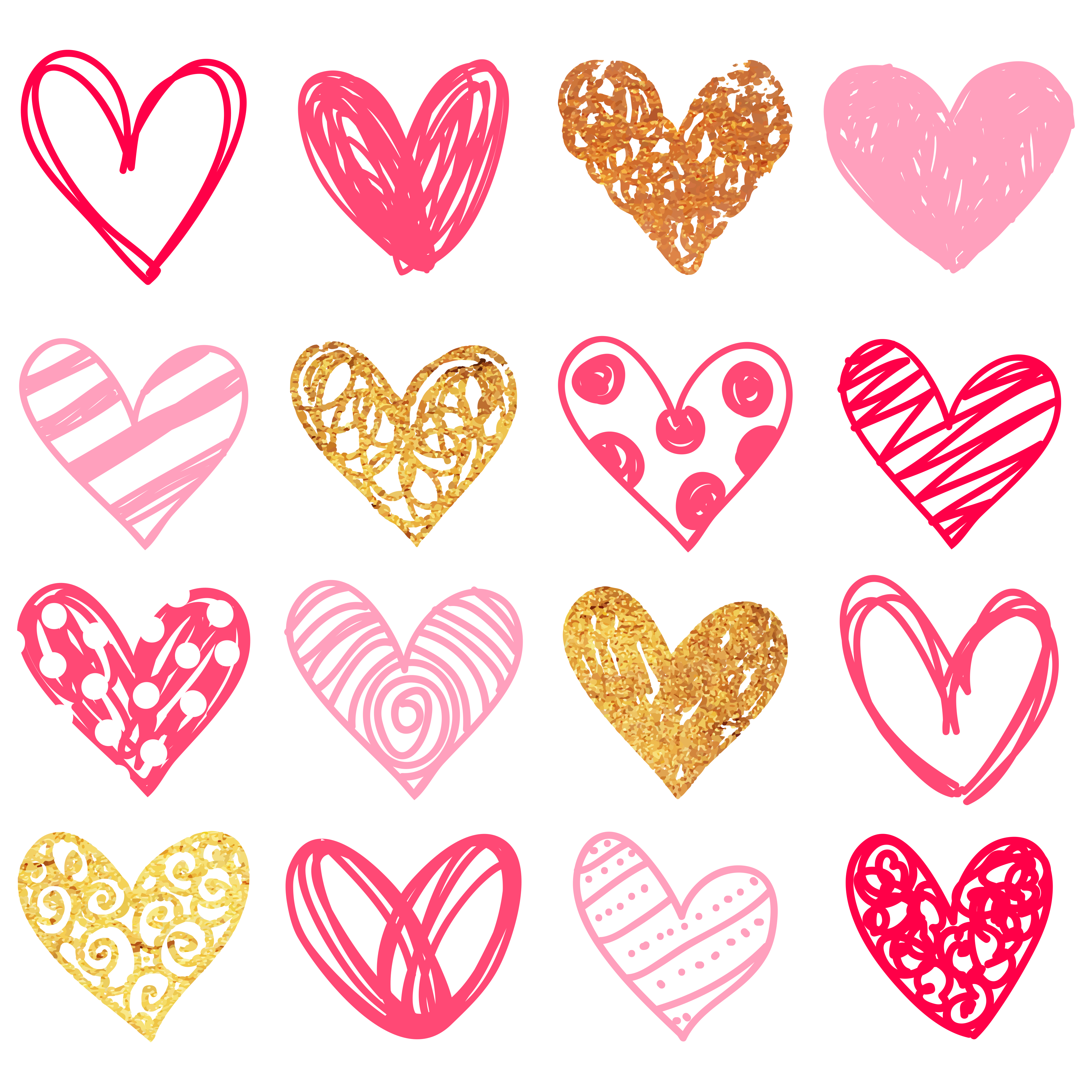 Doodle heart clipart png black and white download Free Doodle Heart Clip Art - Free Pretty Things For You png black and white download