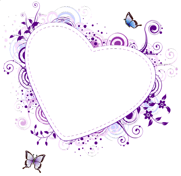 Heart clipart border transparent jpg black and white library Purple Heart Transparent Frame | tattoo ideas | Pinterest | Paper ... jpg black and white library