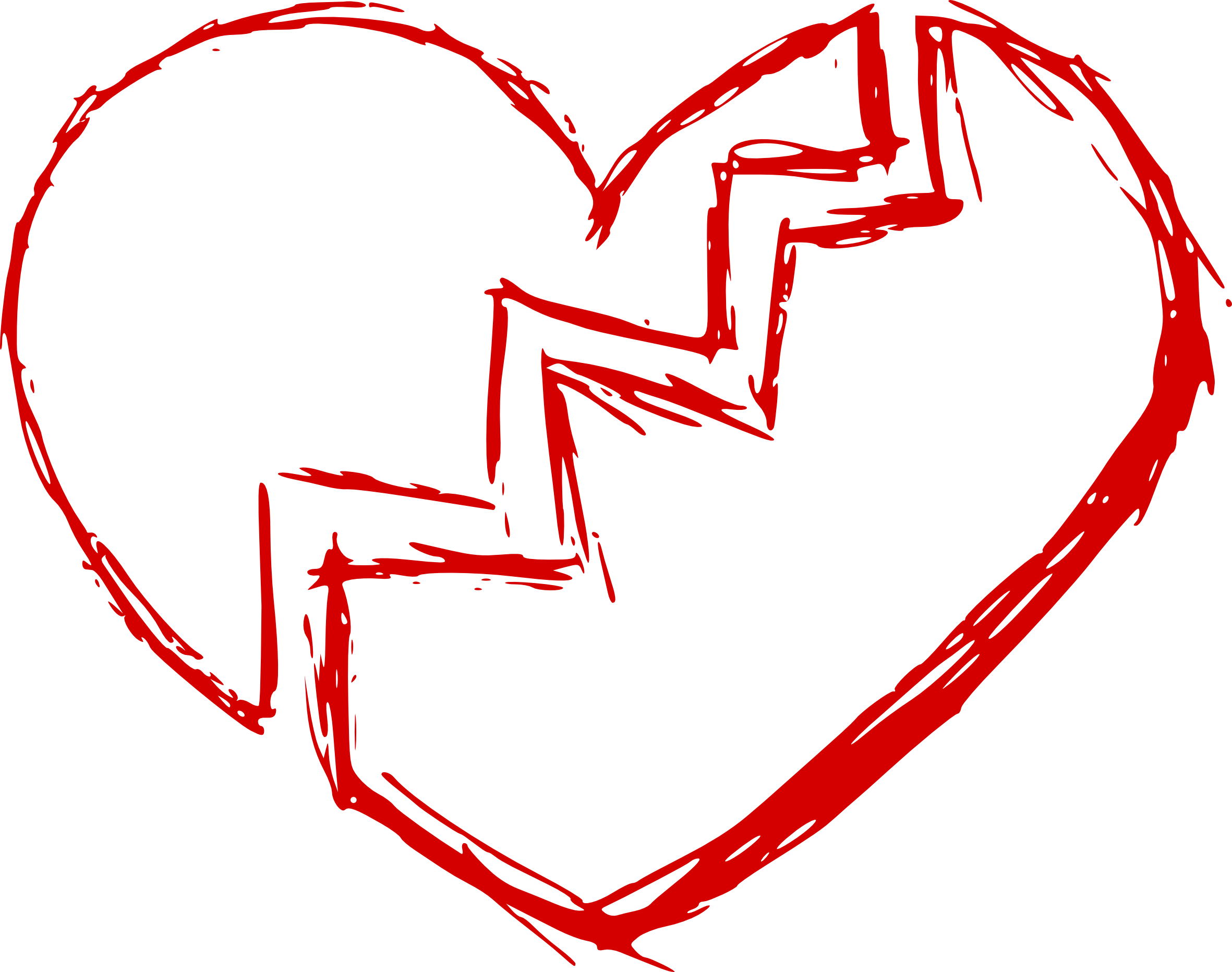 Brush stroke heart clipart image library download Broken Heart (PNG Transparent) | OnlyGFX.com image library download