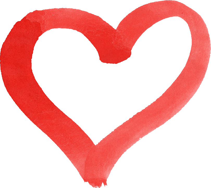 Brush stroke heart clipart svg black and white stock 15 Red Watercolor Heart (PNG Transparent) | OnlyGFX.com svg black and white stock