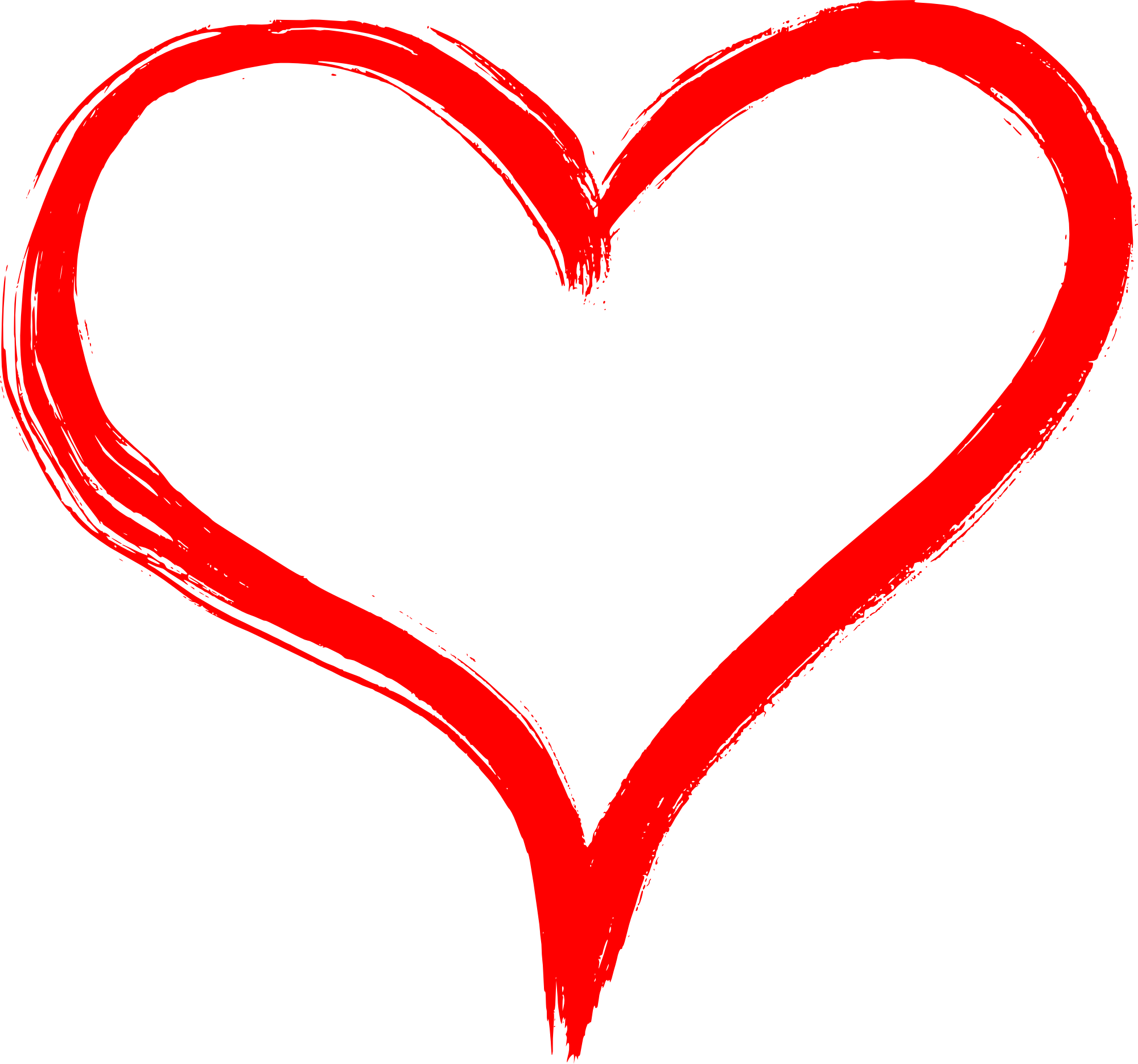 Brush stroke heart clipart graphic royalty free stock Hand Drawn Heart PNG Transparent | OnlyGFX.com graphic royalty free stock