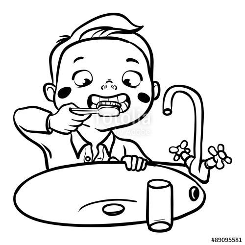 Brush teeth clipart black and white jpg royalty free stock Brushing Teeth Drawing At Getdrawings | Free For Personal Use ... jpg royalty free stock