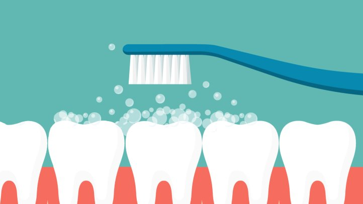 Person smiling which brushing teeth clipart side view jpg library Are You Brushing Your Teeth Too Hard? | Everyday Health jpg library