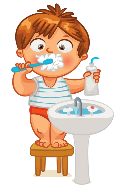 Brush teet clipart clip freeuse Clip art - Kid - Brush Teeth | Clock Time | Dental art, Pediatric ... clip freeuse