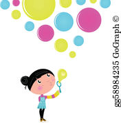 Bubbles and kids clipart picture freeuse Blowing Bubbles Clip Art - Royalty Free - GoGraph picture freeuse
