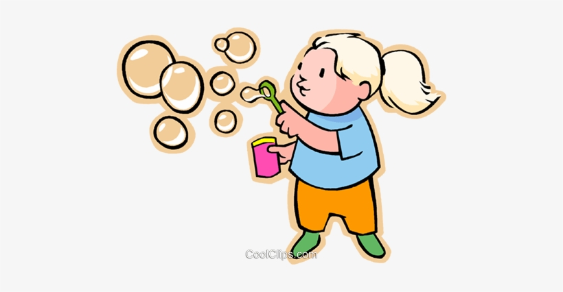 Bubble blowing clipart png freeuse library Little Girl Blowing Bubbles Royalty Free Vector Clip - Girl Blowing ... png freeuse library