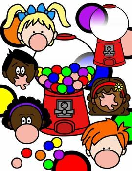 Bubble gum clipart black and white clipart royalty free stock BUBBLE GUM CLIP ART * COLOR AND BLACK AND WHITE clipart royalty free stock