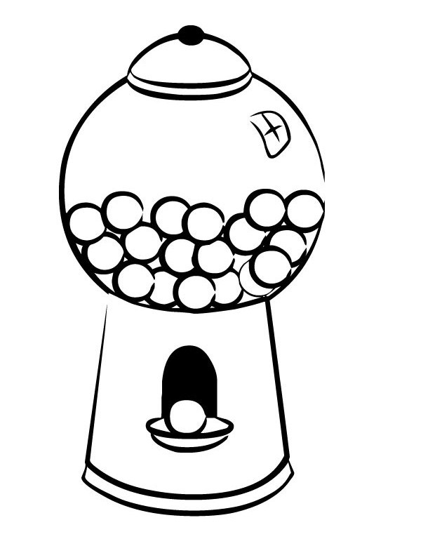 Bubble gum clipart black and white clip art freeuse library Bubble Gum Drawing | Free download best Bubble Gum Drawing on ... clip art freeuse library