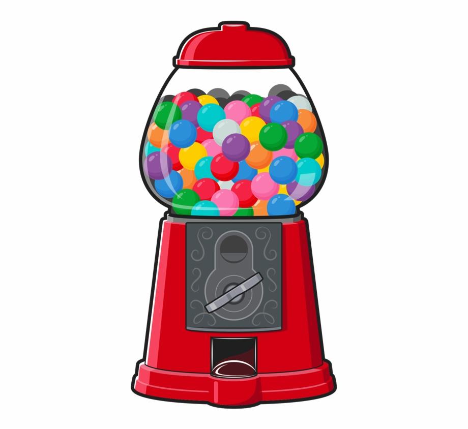Bubble gum machine clipart graphic black and white library Splash Gumball Machine Regular - Transparent Gumball Machine Clipart ... graphic black and white library