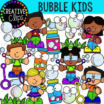 Bubbles and kids clipart black and white download Bubble Kids {Creative Clips Clipart} black and white download