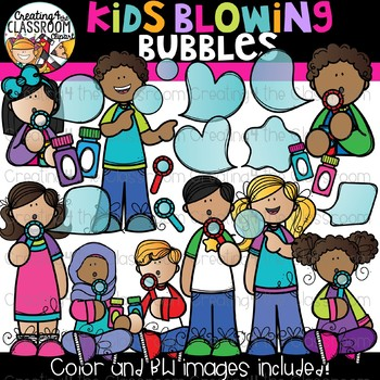 Bubbles and kids clipart vector free library Kids Blowing Bubbles Clipart {Kids Clipart} vector free library