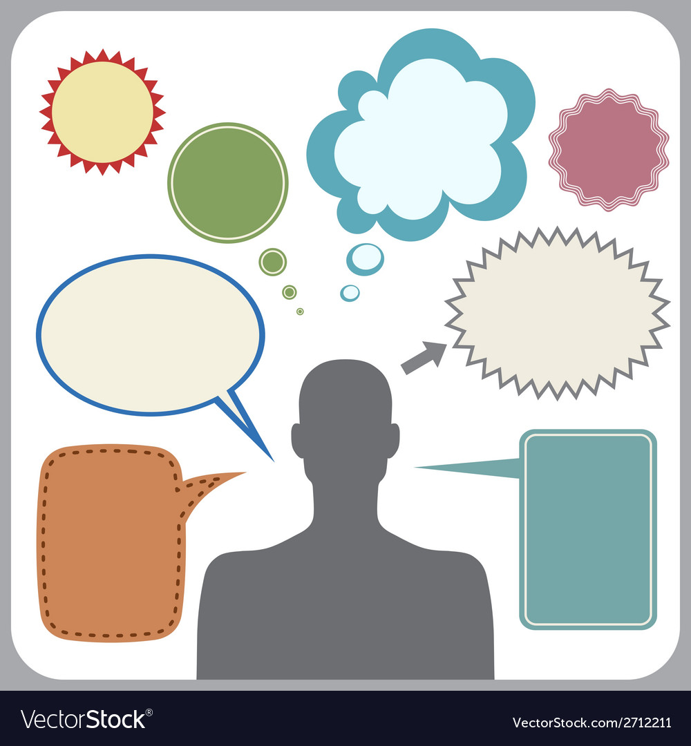 Bubbles vector clipart jpg freeuse Clipart of man with speech bubbles jpg freeuse
