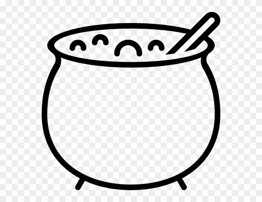 Bubbling cauldron free clipart black and white clip transparent Cauldron Outline Png Clipart (#4169745) - PinClipart clip transparent