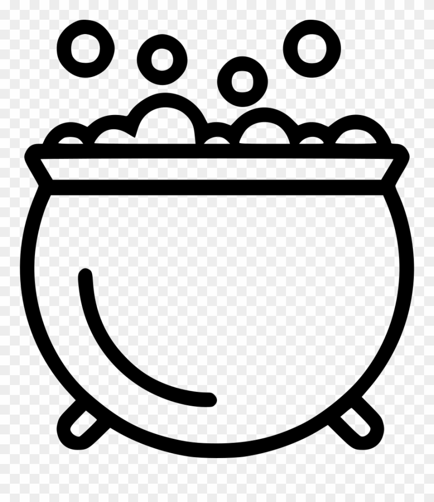 Bubbling cauldron free clipart black and white vector transparent library Cauldron Svg Outline - Draw A Bubbling Cauldron Clipart (#512594 ... vector transparent library