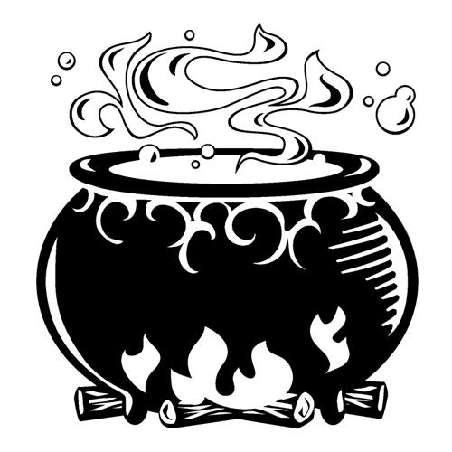 Bubbling cauldron free clipart black and white png royalty free stock Cauldron clipart black and white, Cauldron black and white ... png royalty free stock