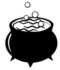 Bubbling cauldron free clipart black and white image transparent library 375 Best Halloween Clip Art images in 2019 | Halloween clipart ... image transparent library