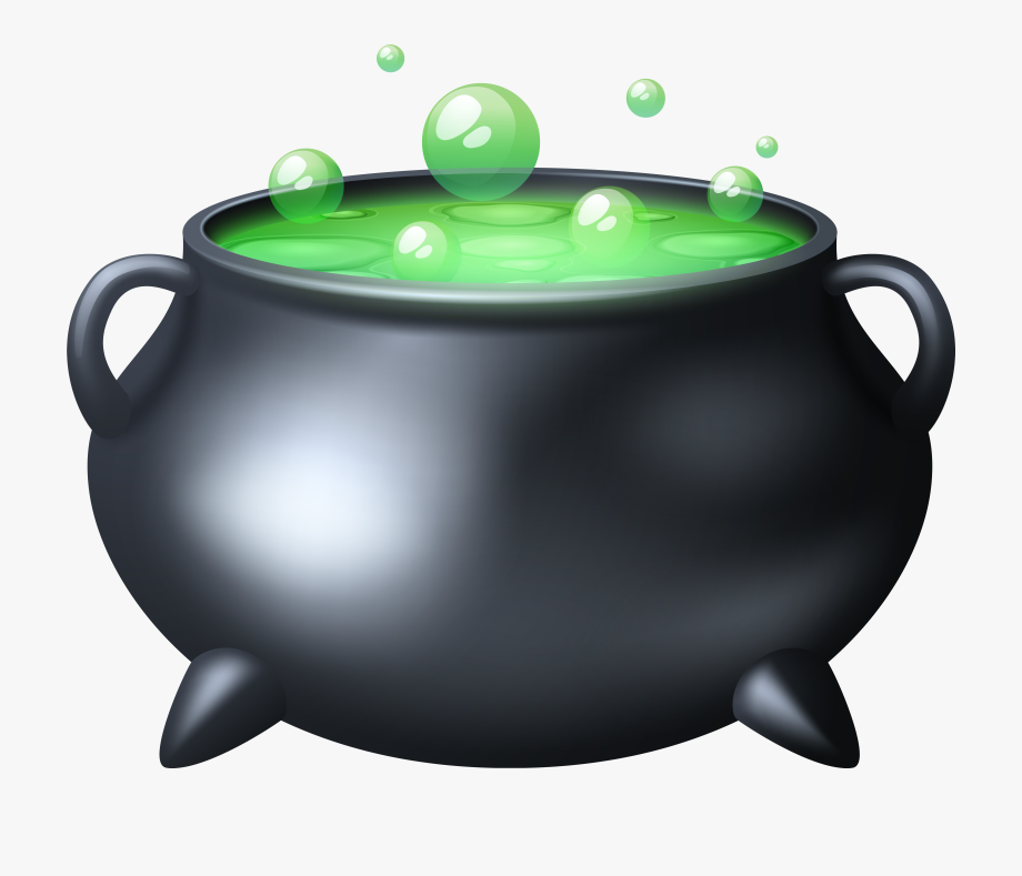 Black clipartfest transparent cartoon. Free clipart cauldron