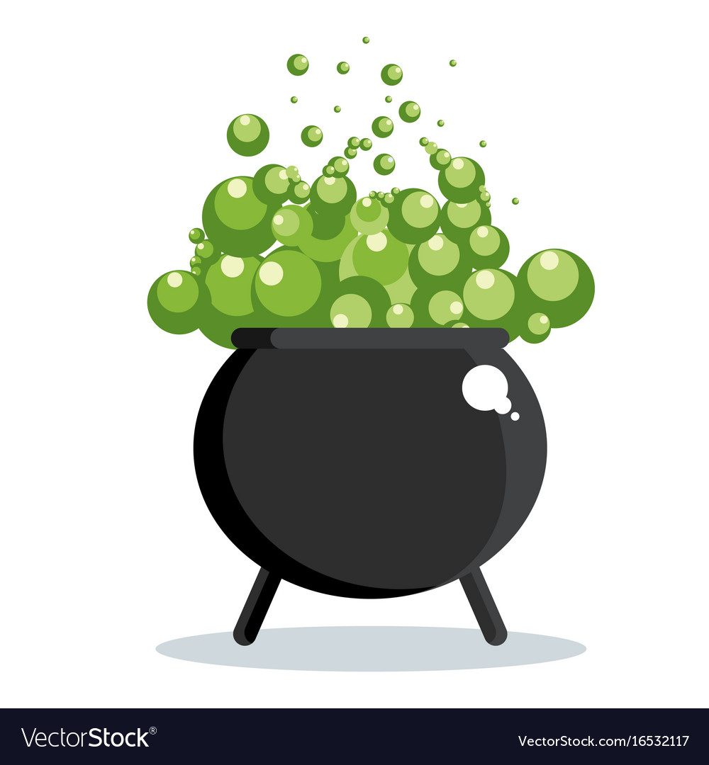 Bubbling cauldron free clipart black and white svg freeuse library Black witch cauldron svg freeuse library