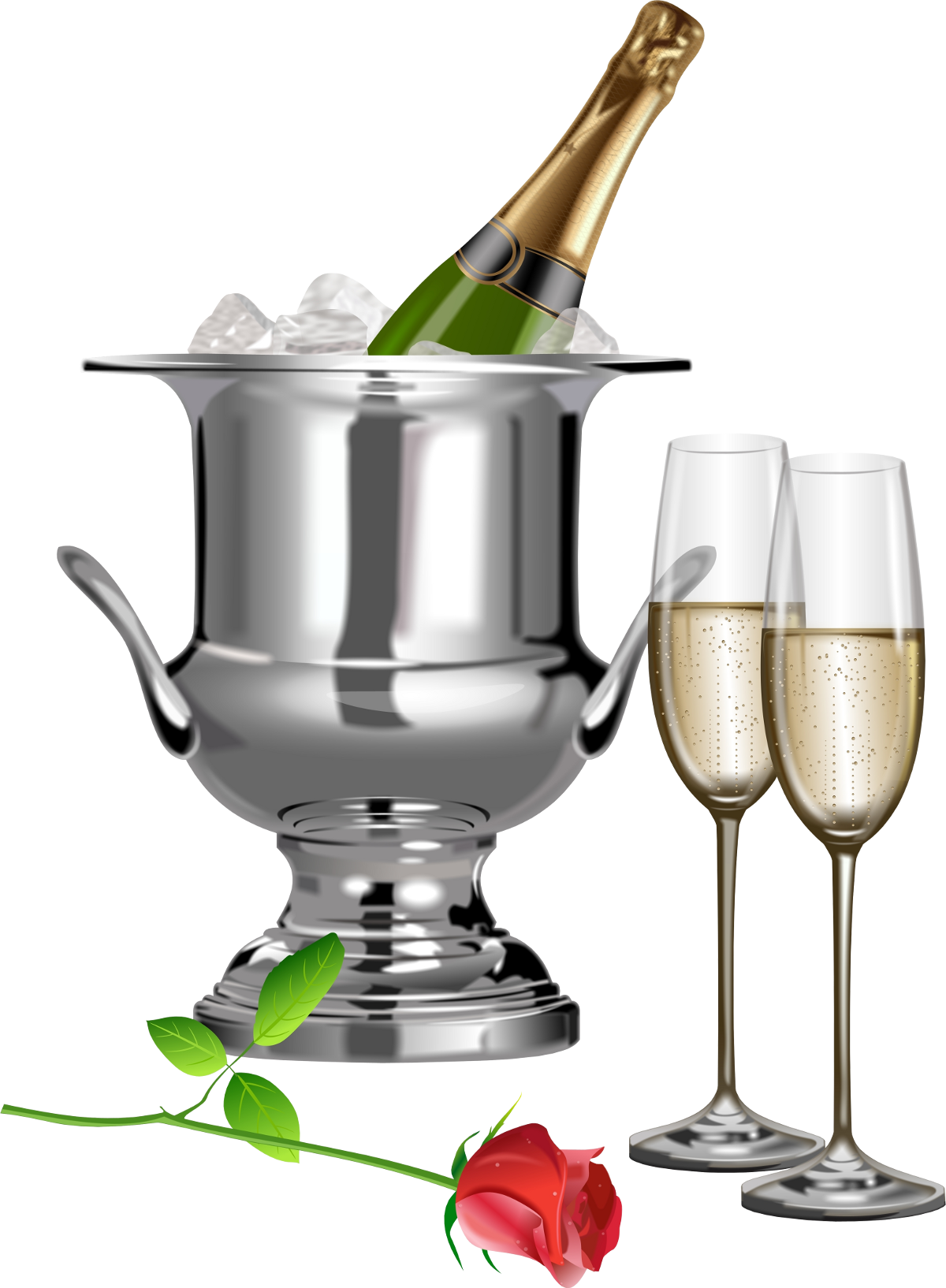 Bubbly cross clipart clipart free download Champagne Champagne Flutes and Rose Transparent Clipart ... clipart free download