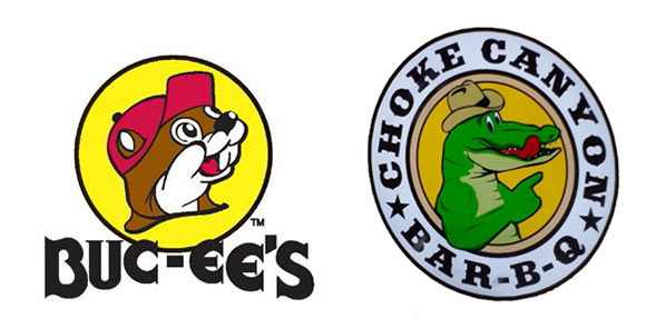 Bucees clipart banner black and white download Buc-ee\'s vs. Choke Canyon: Battle of the Roadside Mascots | Swamplot banner black and white download