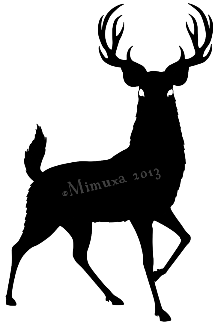 Buck and doe heart clipart picture transparent download Silhouette Of Deer at GetDrawings.com | Free for personal use ... picture transparent download