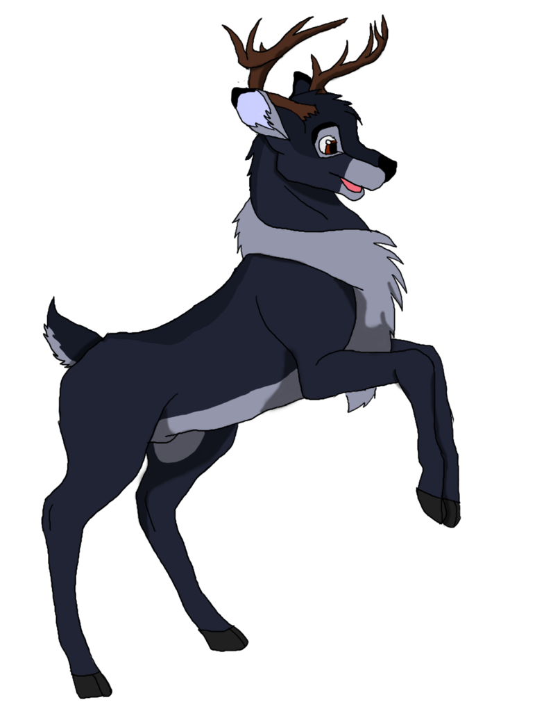 Buck and doe heart clipart vector black and white stock Raven the melanistic buck by Kamari-Inuzuka on DeviantArt vector black and white stock