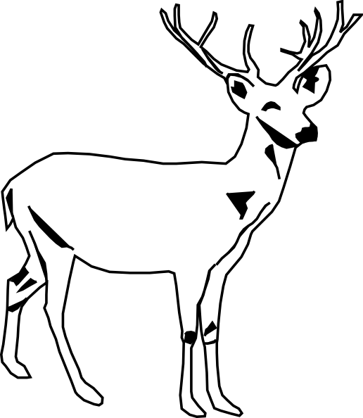 Buck clipart black and white vector transparent library Deer Clipart Black And White | Clipart Panda - Free Clipart Images vector transparent library