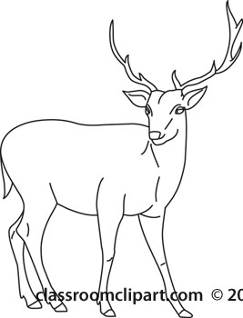 Buck clipart black and white vector black and white Deer buck clipart black and white danasrij top - Clipartix vector black and white