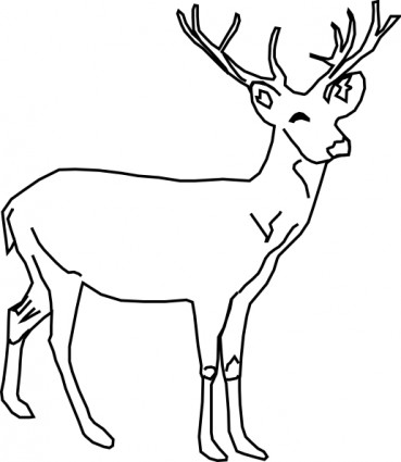 Buck clipart black and white clipart free library Deer Clipart Black And White | Clipart Panda - Free Clipart Images clipart free library