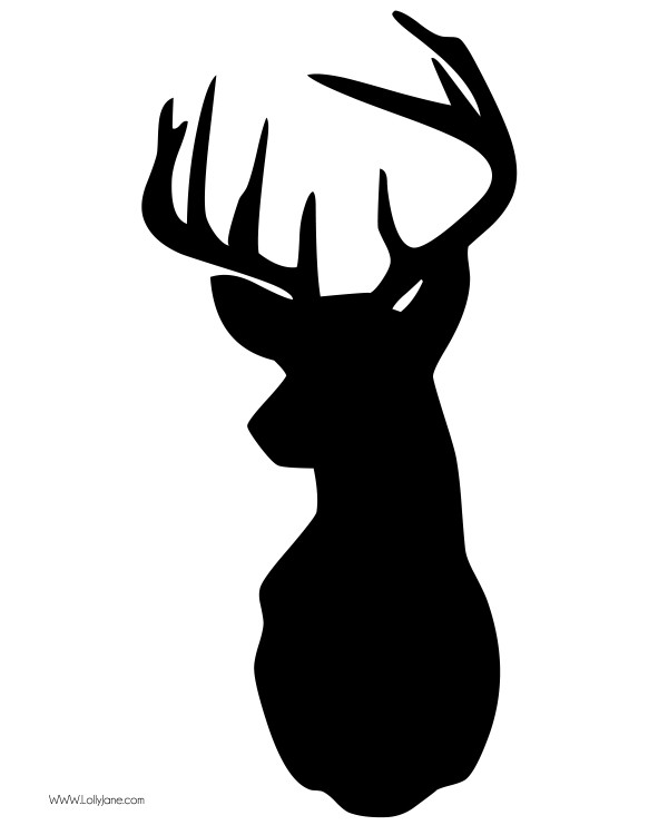 Deer clipart black image freeuse library 26+ Buck Clip Art | ClipartLook image freeuse library